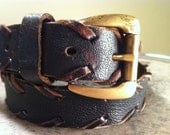 32-34 Faded Black Leather Belt