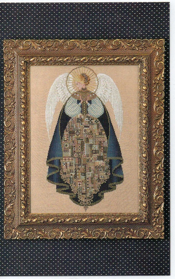 Cross Stitch Chart Angel of Love Lavender and Lace L & L 25 by Marilyn Leavitt-Imblum Angel Series