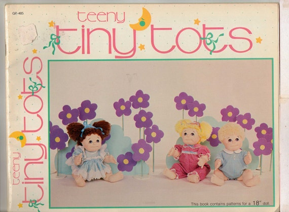 80s Teeny Tiny Tots Soft Sculpture Dolls Pattern Booklet by Connie Ellsworth