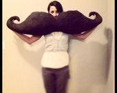 Movember Mustache Body Pillow - Suede