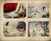 VINTAGE WOMEN,  Altered, Printable, Iron On, Ephemera,  Digital Image No. 505