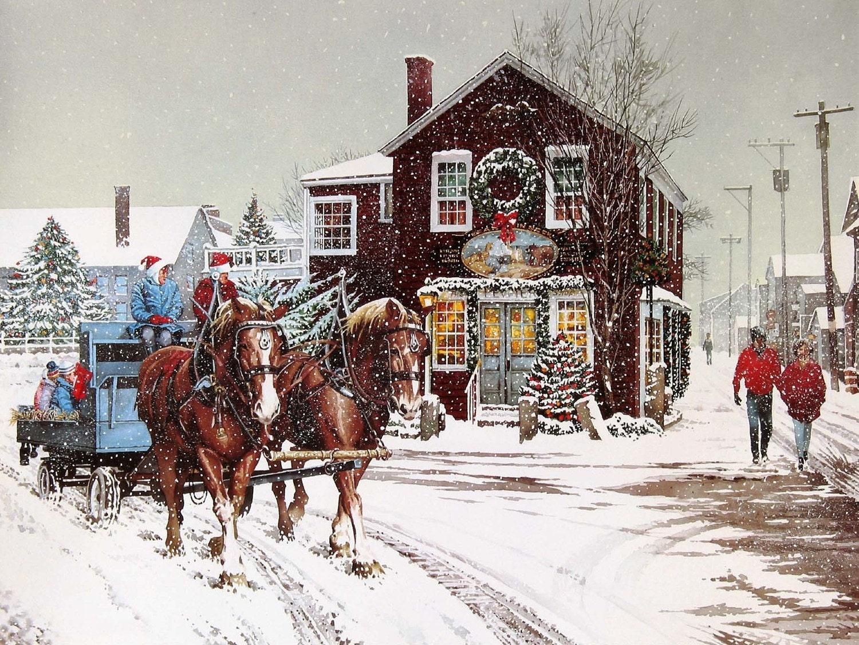 Christmas hayride