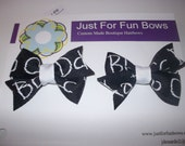 Black and White ABC Pony Tail Holders - Ready to Ship