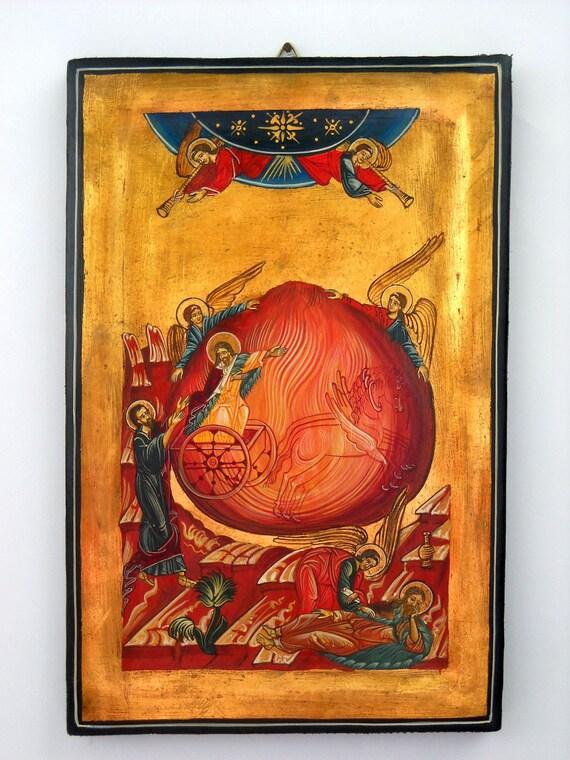 Saint Prophet Elias, St Elijah, Eliyahu, Russian Byzantine Icon, Christian Religious iconography, God Lord Bible Israel Testament