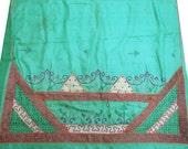 Pure Silk Vintage Saree Scrap Women Wrap Used Dress Craft Home Decor Fabric Indian Recycled Sari - SCR445