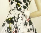 Custom Made  MARIA SEVERYNA Double Wrap Full Skirt Dress