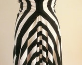 Special Order for Ramona - Partial Payment - Maria Severyna Black and White Stripe Cotton Drape Dress