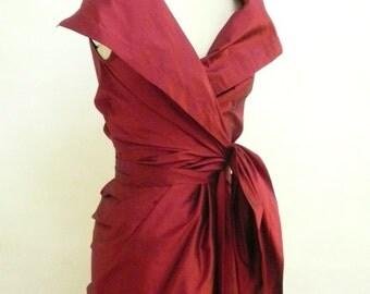 Maria Severyna Dupioni Wrap Dress