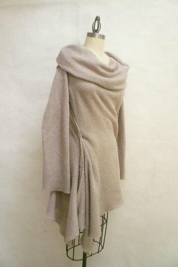 Maria Seveyna wool knit in pearl sweater dress