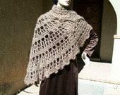 crocheted shawl--Cappuccino Venti