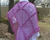 crocheted shawl--Come Hither