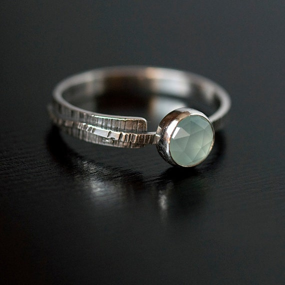Within / Without Chalcedony Sterling Band Ring