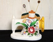 Sewing Machine Pincushion, Vintage and Upcycled