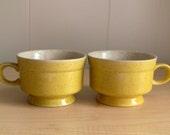 Vintage Yellow Coffee Mugs