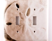 Light Switch Plates, Sepia Sand Dollar, Double Toggle