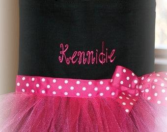 Dance Bag - Tote - Personalized - Flower Girl Gift - Tulle - Ballet - Birthday Gift for Girls