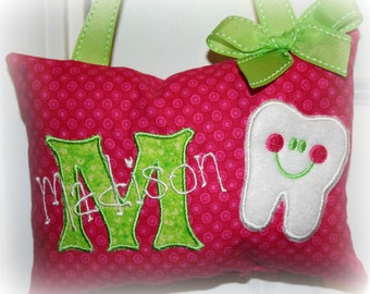 Girls Tooth Fairy Pillow Personalized Custom Made