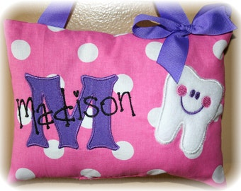 Girls Tooth Fairy Pillow - Personalized - Tooth Chart Option