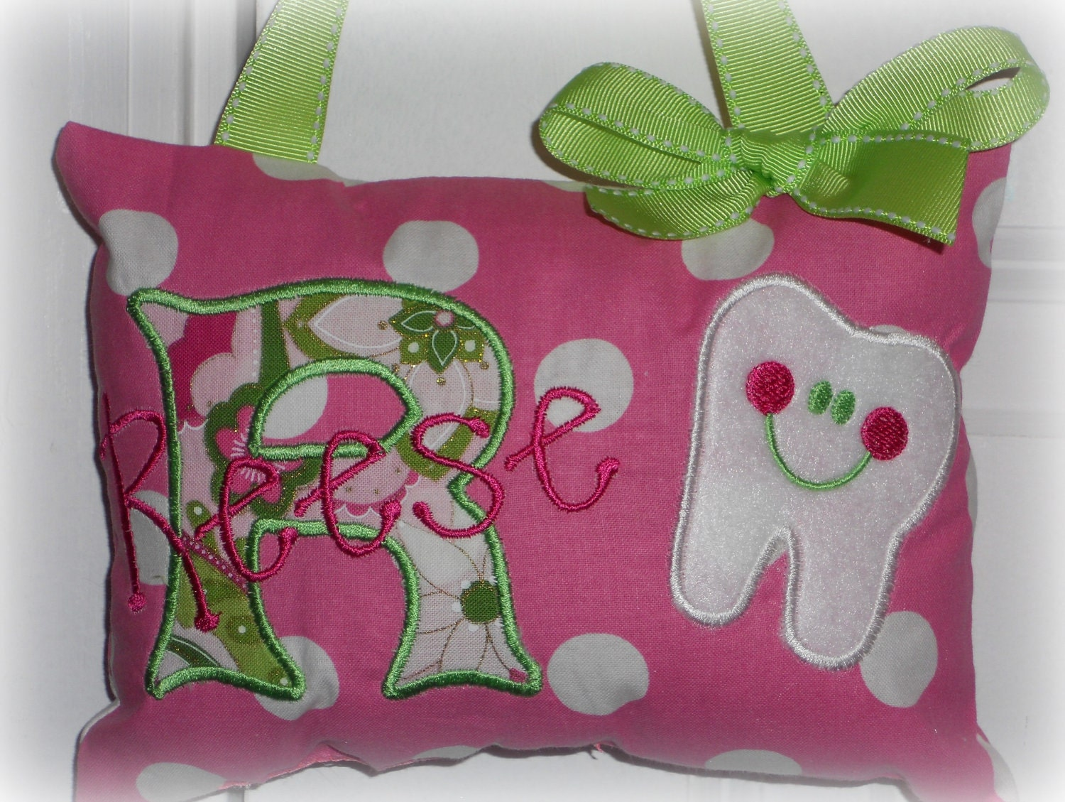 Tooth Fairy Pillow for Girls Personalized by SandDStitches on Etsy
