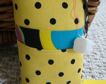 Tooth Fairy Pillow with tooth holder: Yellow Bumble Bee