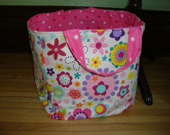 Fabric Box in Retro Pink