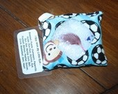 "I Spy / Find It  Bag Quiet Car/ Church Toy- Puzzle ""Soccer Monkey"""