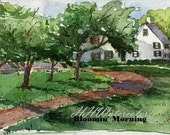 Country Living, Original Watercolor Painting