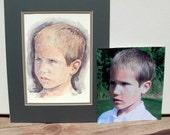 Custom Children's Portrait, Original Watercolor Painting 8X10, 11X14, 16X20