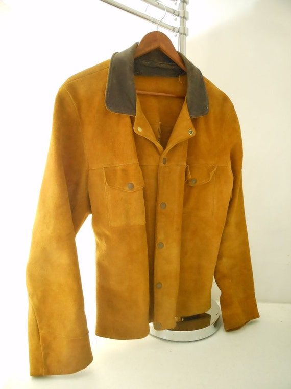SALE Heavy Leather Welding Welders Jacket STEAMPUNK Unisex