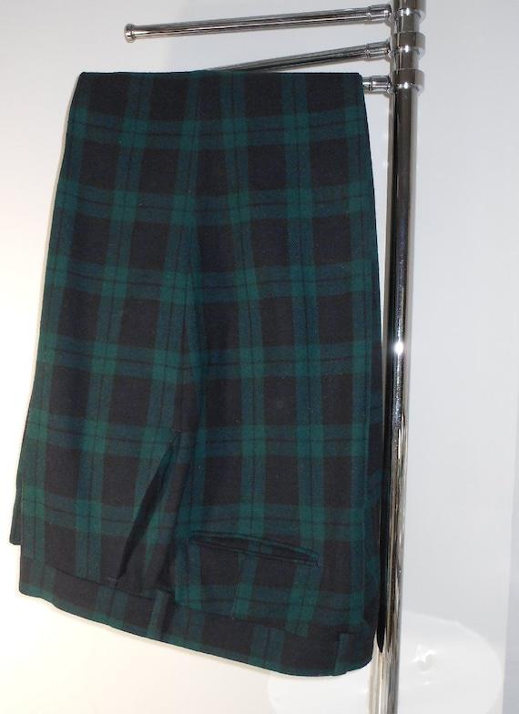Trousers Pants Pendleton Black Watch Tartan Plaid Size 40 Excellent