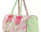 Quilted POLKA DOT Duffle Bag - Monogrammed Personalized