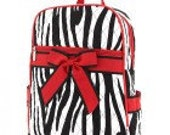 Quilted ZEBRA Backpack - Monogrammed Personalized