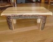 stool/ Live edge / elm step stool / foot stool