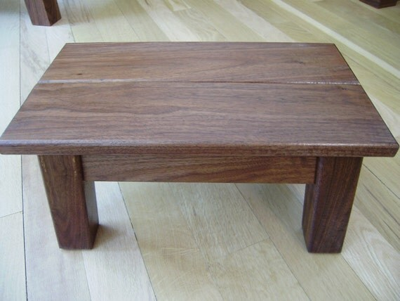 reclaimed wood/ stool/ Perfect little solid wood, Black Walnut/ step stool/ foot stool