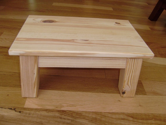 Reclaimed Wood Stool Unfinished Southern Yellow Pine Step