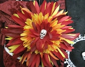 Tribal Belly Dance Hair Flower - Skull