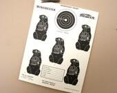 vintage 1960s shooting target: woodchucks
