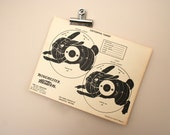 vintage shooting target - double cottontail rabbit - free gift with 20 dollar target purchase