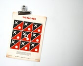 Vintage 1950s Tic Tac Toe Paper Shooting Game Target