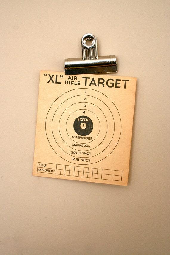 vintage paper shooting targets: two reversible good sportsman targets