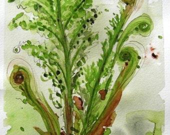 Ferns Modern Botanical Art Print, 8 x 10 Fern Art
