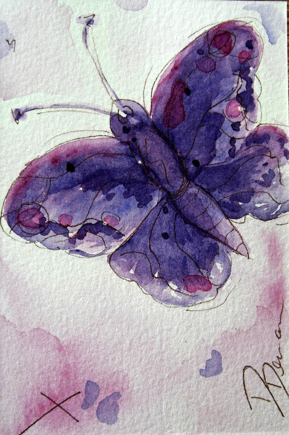 Butterfly Art Original Watercolor Painting