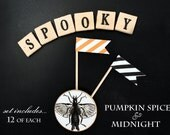 2 Dozen Cupcake Flags in Something Wicked