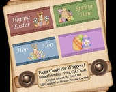 Easter Candy Bars Wrappers I