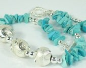 RESERVED - Turquoise Bracelet Sterling Silver