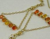 70% Off / Songea Sapphire Earrings Gold Filled