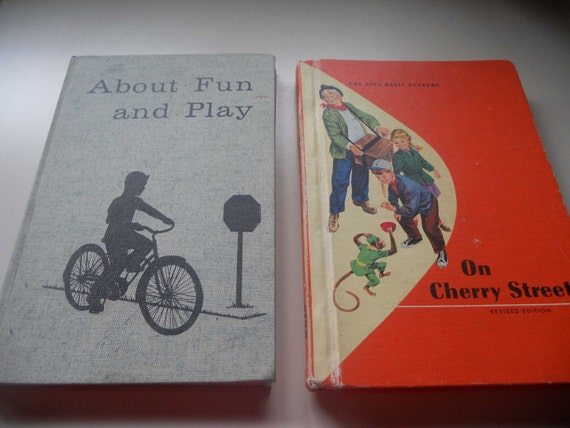 Vintage Pair Of 1960's Children's Books Ginn Basic Readers