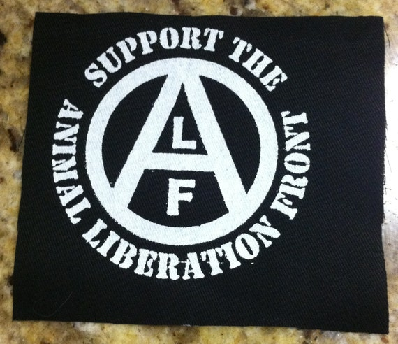 Support the Animal Liberation Front - ALF - Patch (Off White on Black)