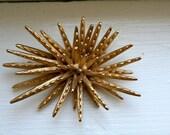 Gold Spiky Monet Brooch