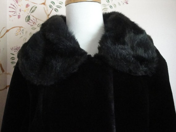 Plush Eskimo style Black Parka-SALE 20% off